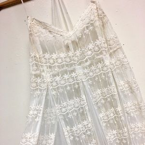 En Creme Intricate Lace Dress